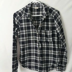Hollister Woman's XS Blue & White Long Sleeve